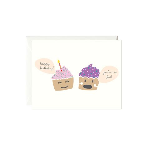 birthday cupcake card card design template