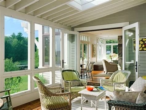 england farmhouse  porch bliss sunroom