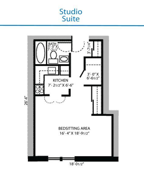 floor plans in suite floor plan of studio suite quinte living centre