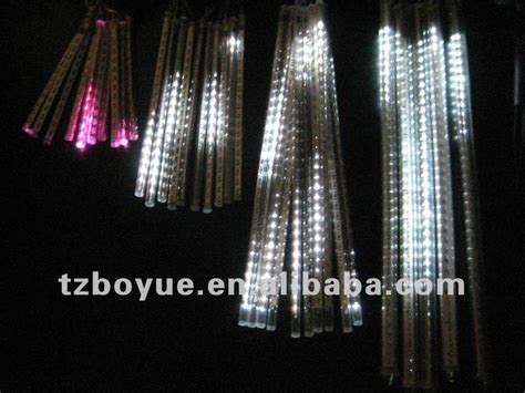 led solar falling icicle lights sets of 10pcs icicle