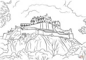 Edinburgh Castle Coloring Page