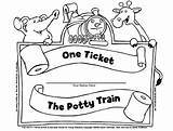 Ticket Potty Coloring Training Pages Tickets Train Ride Got Ve Template Derekanderson sketch template