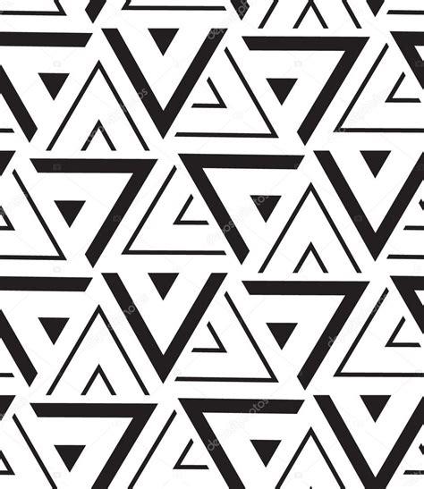 Vector geometric seamless pattern Modern triangle texture