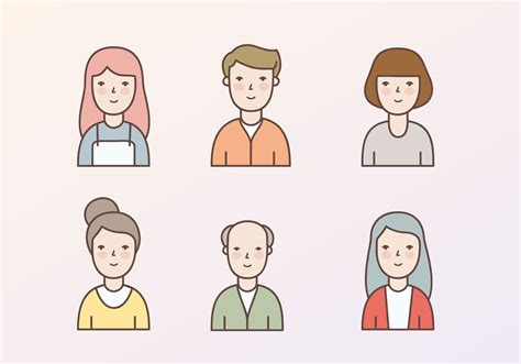 character icons illustration   vectors