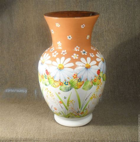 vase painted pottery shop   livemaster