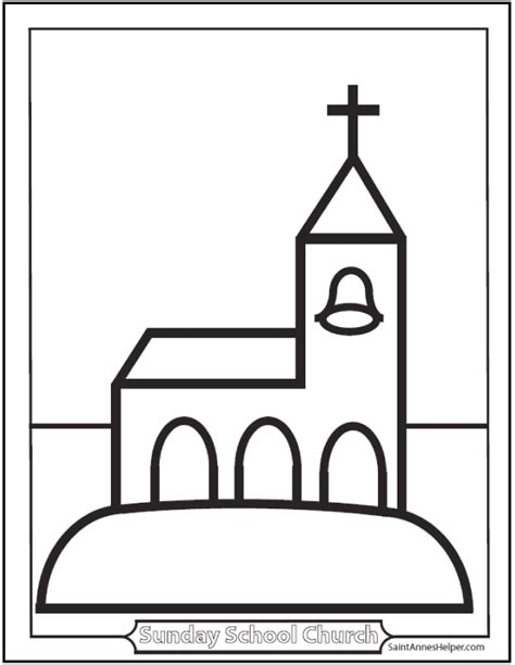 church coloring pages coloring sheets for children church for preschool