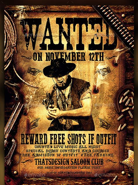 western wanted poster templates  printable