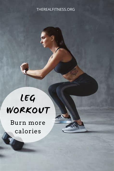 Leg workout. Burn more calories