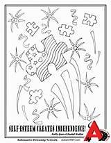Autism Coloring Pages Self Esteem Ribbon Awareness Print Printable Popular Getdrawings Getcolorings Coloringhome Creates Independence sketch template