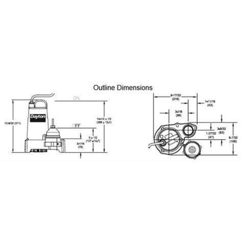 Flotec Submersible Wiring Diagram by Dayton 3 4 Hp 1 1 2 Quot Submersible Sump 115v 3bb80