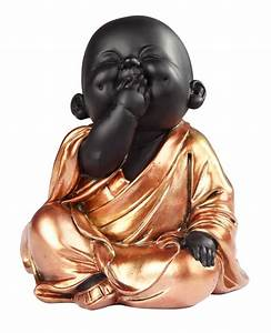 Sitting Buddhist Monk in Golden/Black GSC Imports