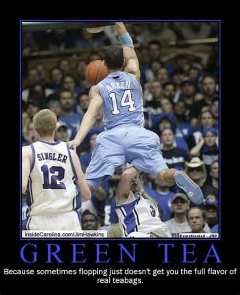 photo danny green tea poster tar heel times