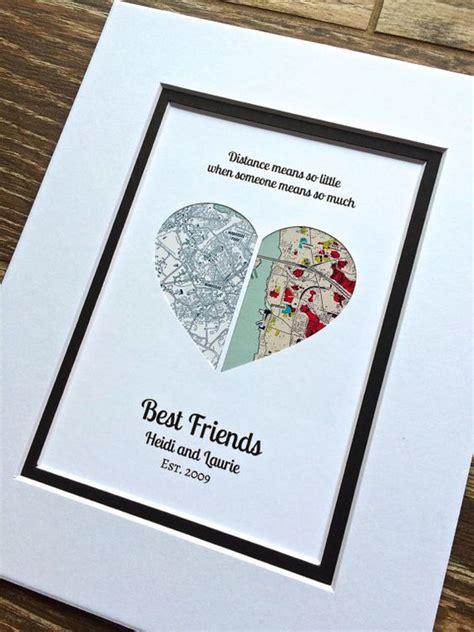 weihnachtsgeschenk beste freundin distance quote gift gift for best