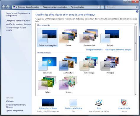 plus de bureau windows 7 changer de fond d écran et plus si affinité
