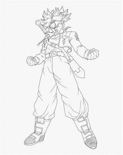 Trunks Coloring Future Dragon Ball Drawing Saiyan