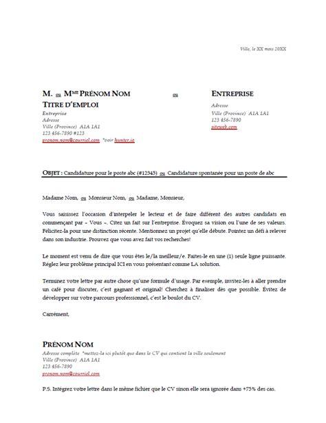 Lettre De Cv by L œil Du Recruteur Mod 232 Le De Cv Gratuit Et Efficace 224