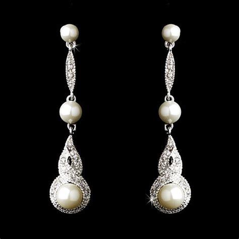 deco pearl earrings deco wedding jewelry pearl drop bridal earrings