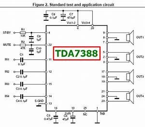Tda7388 Datasheet - 4 X 45w Bridge Car Radio Amplifier