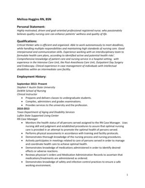 How To Write A Personal Statement Of Qualifications by Fillable Sfasu Huggins Rn Bsn Personal