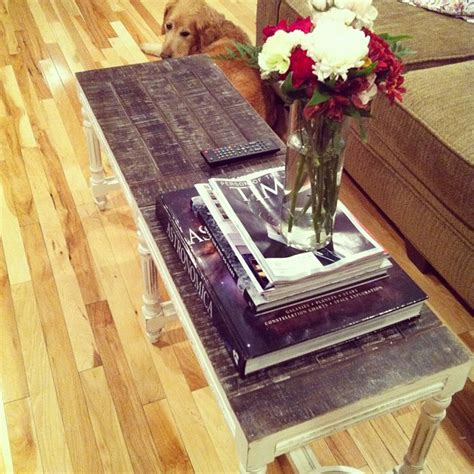 using a bench as a coffee table customer photo using a bench as a table nadeau blog