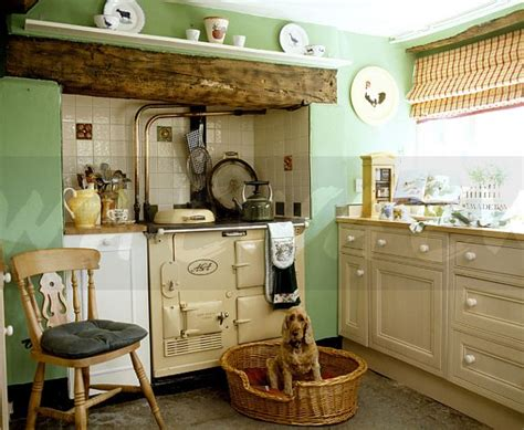 country kitchen green image cocker spaniel sitting in basket in front of 2804