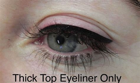 thick upper permanent eyeliner actual client permanent