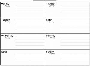 Printable Daily Planner Sheets 2016 Calendar Template 2016