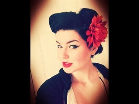 Pin Up Rockabilly Hairstyle Wednesday Hair Look   YouTube
