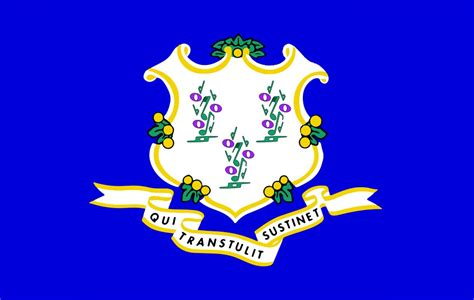 connecticut color free printable connecticut state flag color book pages