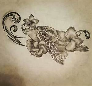 Sea Baby Turtle Tattoo Design | tattoos | Pinterest ...