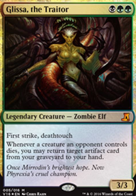 phyrexian obliterator deck ideas glissa infect edh commander edh mtg deck