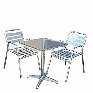 Table Et Chaise Bistrot : chaise bistrot aluminium jardin ~ Teatrodelosmanantiales.com Idées de Décoration