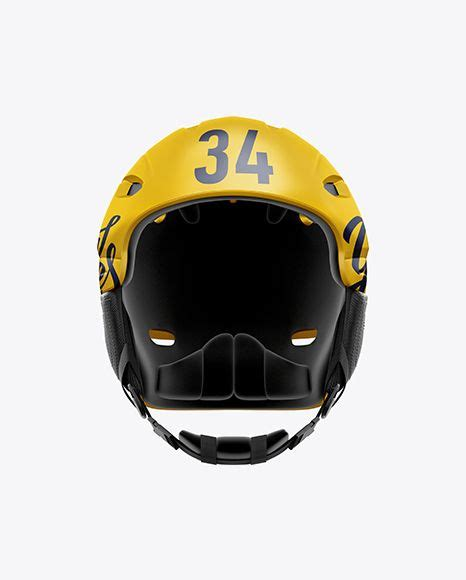 The best free mockups from the web: Ski Helmet Mockup - Front View in Apparel Mockups on ...