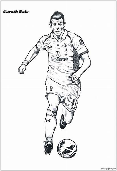 Bale Gareth Pages Coloring Coloringpagesonly