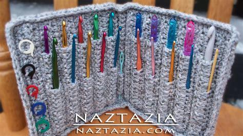 crochet hook holder case naztazia