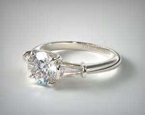 tapered baguette engagement ring tapered baguette engagement ring platinum 17150p