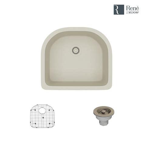 which kitchen sink rene by elkay undermount composite granite 24 3 4 in 1005