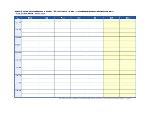 Schedule Template 5 Calendar Schedule Template Ganttchart Template