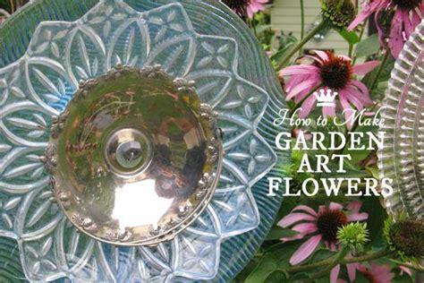 garden art flowers  dishes empress  dirt