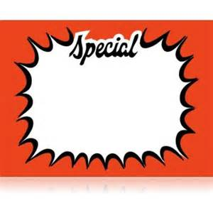 Retail Store Special Sale Price Sign