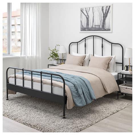 sagstua cadre de lit noir lury 160x200 cm