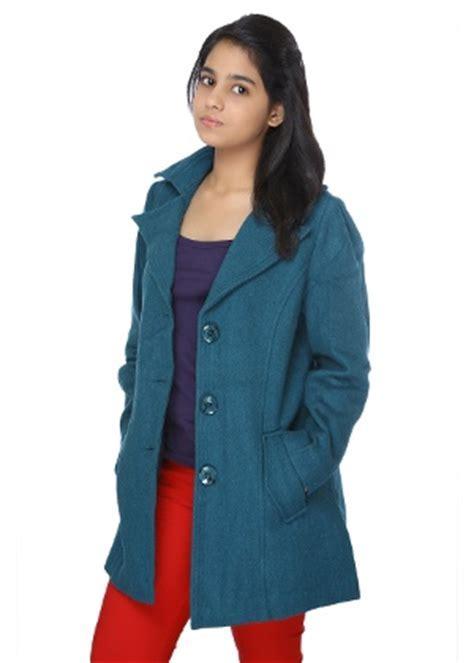 Duke Women's Long Jacket   Peacock Blue   HomeShop18.com