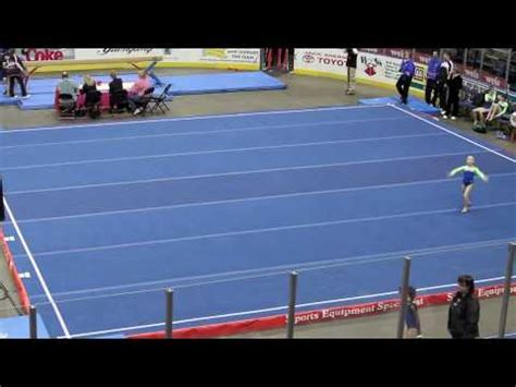 talia denis level 6 gymnastics floor routine youtube