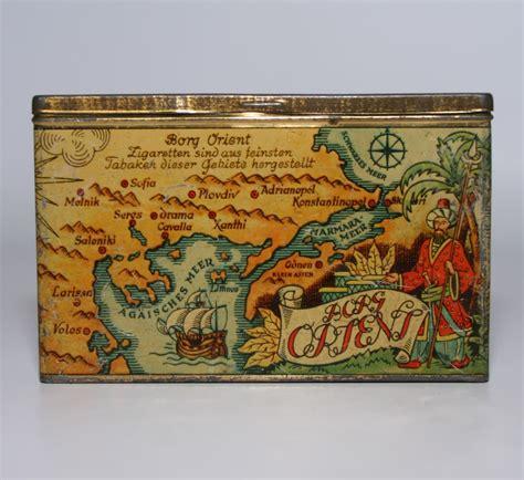 orient tabak zigaretten alte blechdose borg orient zigaretten tabak ca 1930 a401 ebay