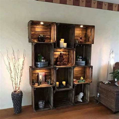 Best 25 Wood Crate Shelves Ideas On Pinterest Wooden