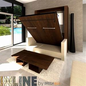 Inline murphy bed and inline sofa murphy bed with couch for Murphy bed or sofa bed