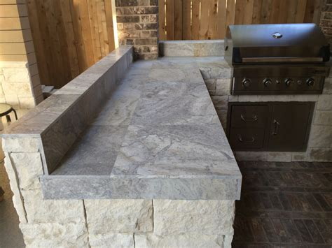 tile counter tops houston outdoor kitchen with silver travertine tile countertop