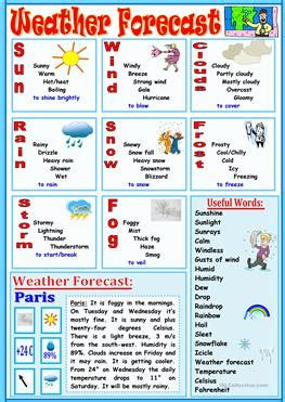 Weather Comprehension Worksheets