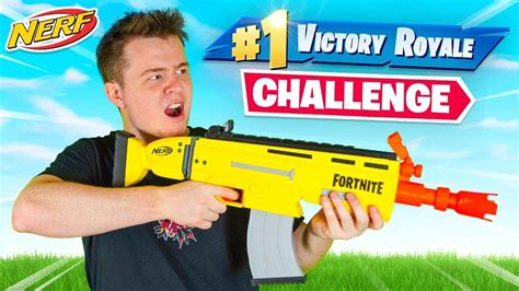 fortnite nerf gun challenge youtube