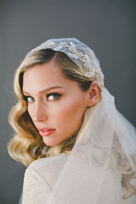 Crystal Veil Juliet Cap Veil Wedding Veil Veil Bridal Cap